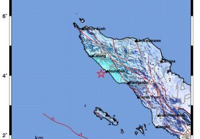 Gempa Berkekuatan 5,2 Magnitudo Guncang Wilayah Aceh